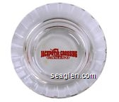 Jackpot Crossing Casino - Red imprint Glass Ashtray