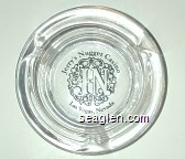 Jerry's Nugget, JN, Las Vegas, Nevada - Black imprint Glass Ashtray