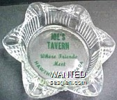 Joe's Tavern, Where Friends Meet, Hawthorne, Nevada - Green imprint Glass Ashtray