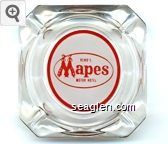 Reno's Mapes, Motor Hotel - Red on white imprint Glass Ashtray