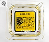 McGill Club Inc, Liberty Pit, Copper Pit, McGill, Nevada - Black on Yellow imprint Glass Ashtray