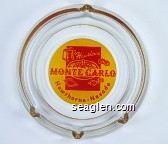Hawthorne Monte Carlo, Hawthorne, Nevada - Red on yellow imprint Glass Ashtray