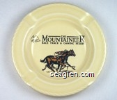 The Mountaineer, Race Track & Gaming Resort - Black imprint Porcelain Ashtray