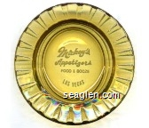 Mickey's Appetizers, Food and Booze, Las Vegas - White imprint Glass Ashtray