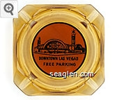 The Mint, Downtown Las Vegas, Free Parking - Black on red imprint Glass Ashtray