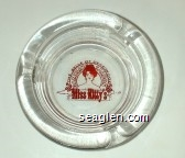 The Belle of Deadwood, Gambling Saloon, Miss Kitty's - Red imprint Glass Ashtray
