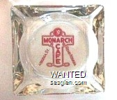 Monarch Cafe, Reno - Nevada, Virginia St. - Red imprint Glass Ashtray