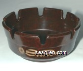 Sands, Hotel & Casino Atlantic City (Bottom: GES-Line, Made in U.S.A.) - Gold imprint Bakelite Ashtray