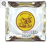 Borrowed From Saddle Club - Brown on yellow imprint Glass Ashtray