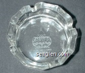 Sahara, Hotel and Casino, Las Vegas - Etched imprint Glass Ashtray