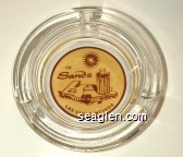 The Sands, Las Vegas, Nevada - Red on yellow imprint Glass Ashtray