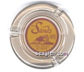 The Sands Hotel, Las Vegas, Nevada - Red on yellow imprint Glass Ashtray