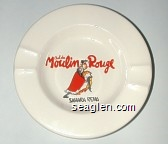 Bal du Moulin Rouge, Sahara Reno - Red, yellow and black imprint Porcelain Ashtray