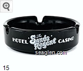 The Sands Regent, Hotel Casino, Arlington at Third, Reno, Nevada 89501 - (702)348-2200 Toll Free Reservations (800) 648-3553, Telex -172249, Downtown Reno - White imprint Glass Ashtray