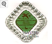 Sagebrush Club & Cafe, Sportsman's Headquarters, Fallon, Nevada, Phone 135W - Brown on green imprint Glass Ashtray