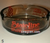 StateLine Hotel - Casino - Convention Center, 800-648-9668 Wendover, N.V., Silver Smith Casino-Resort, Wendover, Nevada, State Line Inn, Wendover, Utah, 801-662-2226 - Red imprint Glass Ashtray