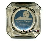 Silver Nugget Restaurant, ''... Where Friends Are a Tradition'', North Las Vegas, Nevada - Blue imprint Glass Ashtray