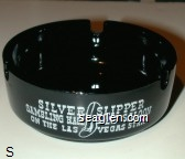 Silver Slipper Gambling Hall and Saloon, On the Las Vegas Strip - White imprint Glass Ashtray