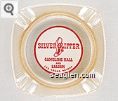 Silver Slipper Gambling Hall and Saloon, Las Vegas, Nevada - Red on white imprint Glass Ashtray