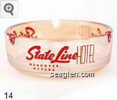 State Line Hotel, Wendover Nevada - Red imprint Glass Ashtray