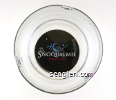 Snoqualmie casino - White and red on black decal imprint Glass Ashtray
