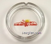 Soboba Casino - Red imprint Glass Ashtray