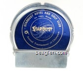 Stardust Hotel and Golf Club, Las Vegas, Nevada, Stardust, 15th Annual Tournament of Champions - Gold on blue imprint Metal Ashtray