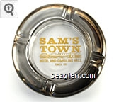 Sam's Town Hotel and Gambling Hall, Tunica, MS - Gold imprint Glass Ashtray