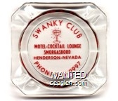 Swanky Club, Motel - Cocktail Lounge, Smorgasbord, Henderson - Nevada, Phone 565-9997 - Red imprint Glass Ashtray