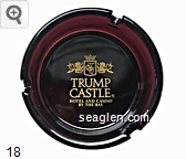Trump Castle, Hotel & Casino, By the Bay - Yellow imprint Glass Ashtray