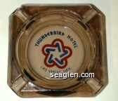 Thunderbird Hotel, Las Vegas, Nev. - Blue and red imprint Glass Ashtray