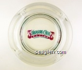 Treasure Chest Casino, Kenner, Louisiana - Blue and violet imprint Glass Ashtray