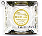 The Westerner Club Casino Bar Restaurant, Downtown Las Vegas, Nev. - Yellow imprint Glass Ashtray